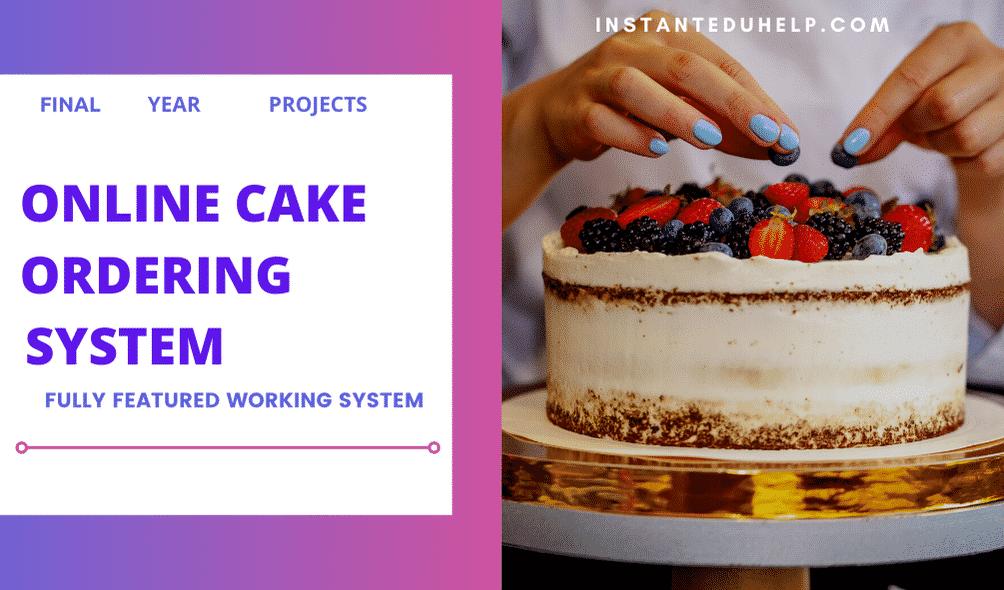 Online Cake Ordering Management System
