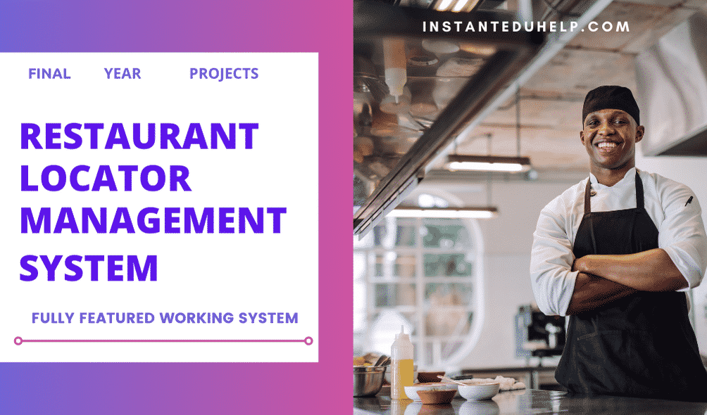 Restaurant Locator Management System final year project