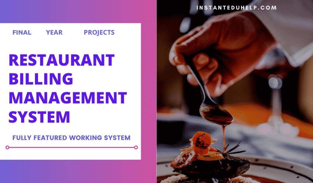 Buy Restaurant Billing Management System project